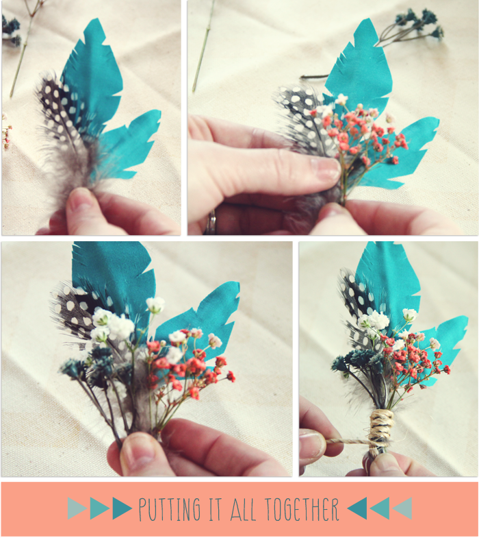 Diy bohemian boutonniere oh what love studios blog quad city owl diy bout assembly mightylinksfo