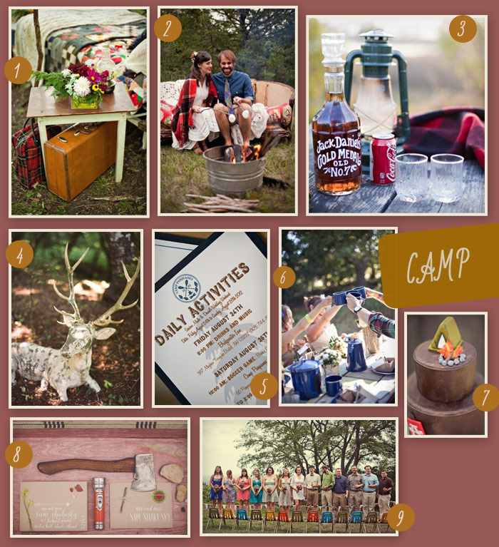 Camping Wedding Ideas: Theme Thursday: A Camping Wedding
