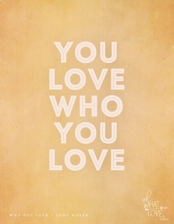 you love who you love
