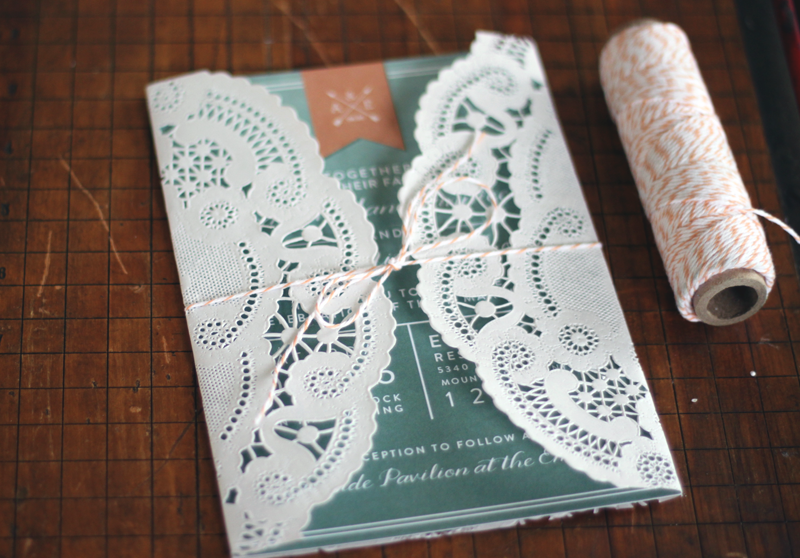 Oh What Love DIY A Lace Doily Wedding Invitation Sleeve – Diy Wedding Invitations Lace