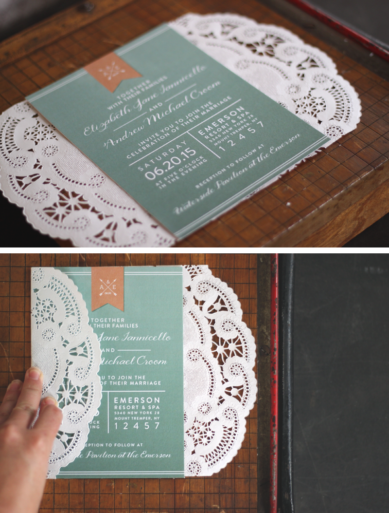 Oh, What Love DIY: A Lace Doily Wedding Invitation Sleeve | Oh, What ...