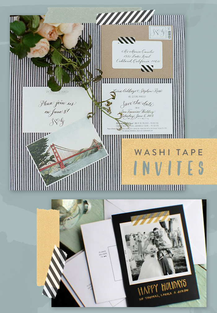 Invitation Embellishments Washi Tape