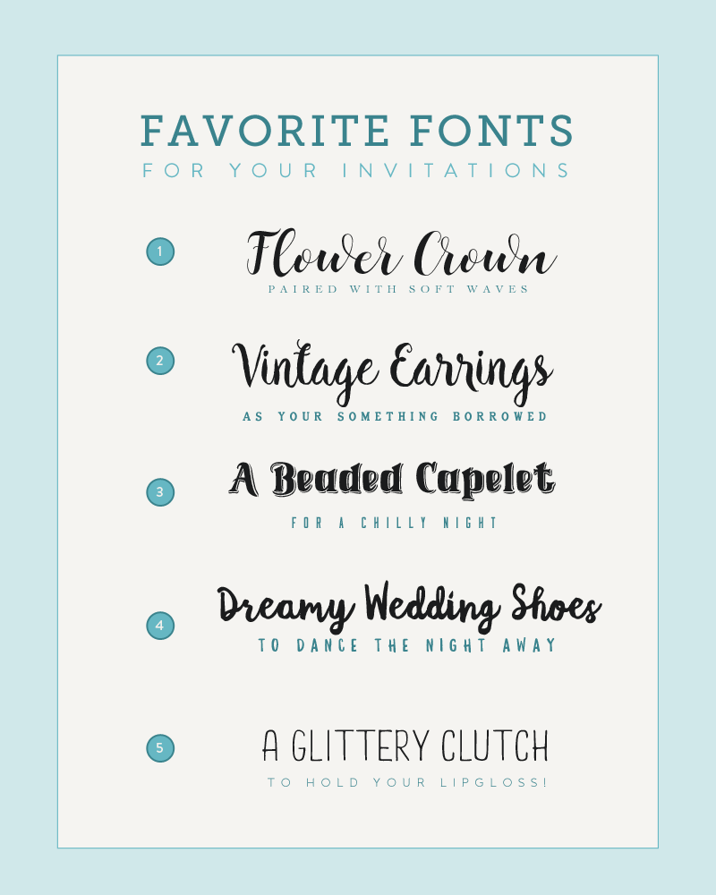 August's Five Font Pairings